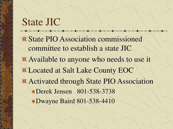 State JIC