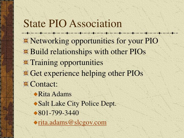 State PIO Association