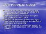 cadet permanent grades