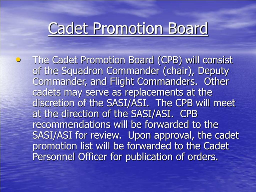 Cadet Promotion Board
