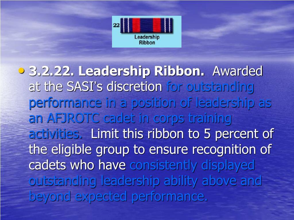 3.2.22. Leadership Ribbon.