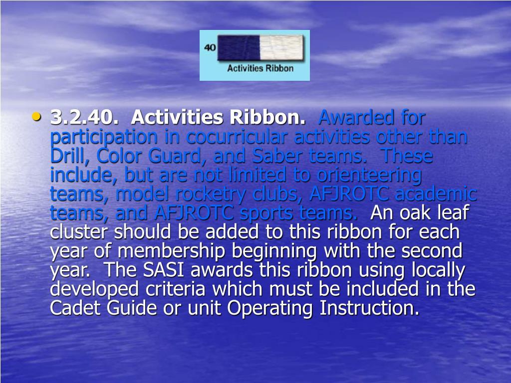 3.2.40.  Activities Ribbon.