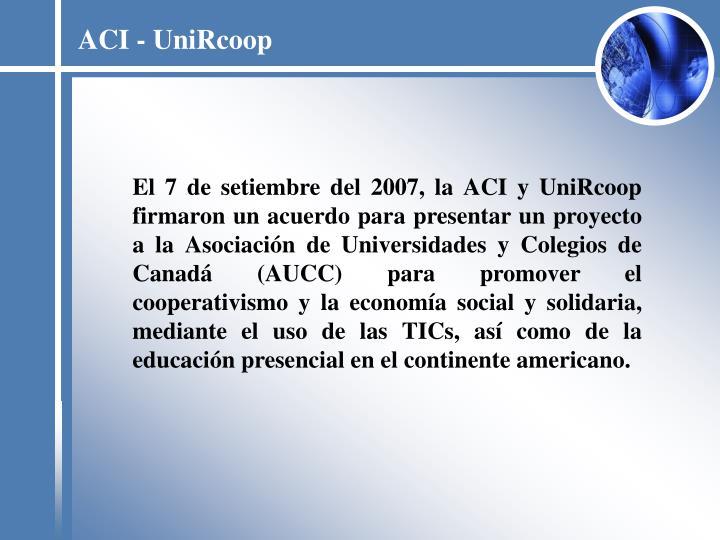 ACI - UniRcoop