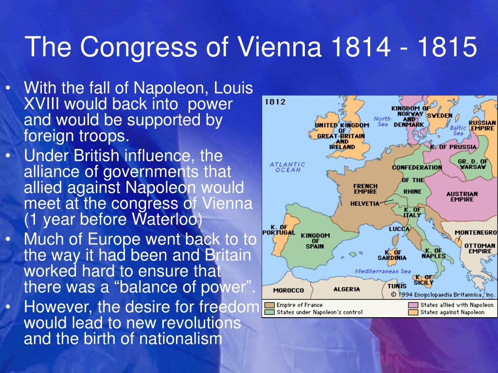 The Congress of Vienna 1814 - 1815