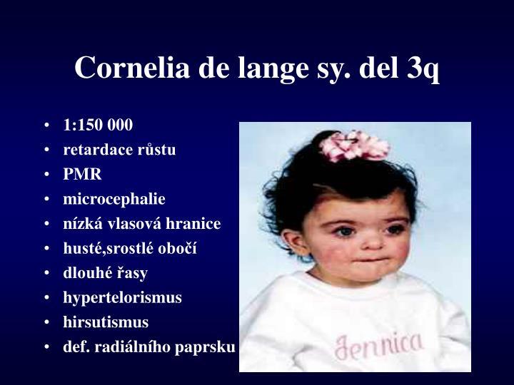 Cornelia de lange sy. del 3q