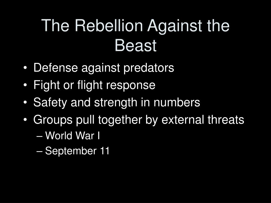 The Rebellion Against the Beast