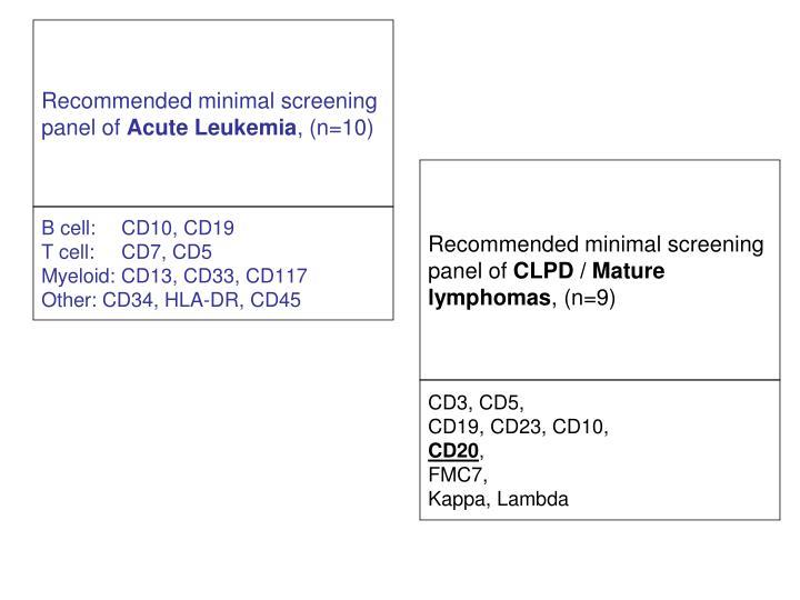 B cell:CD10, CD19