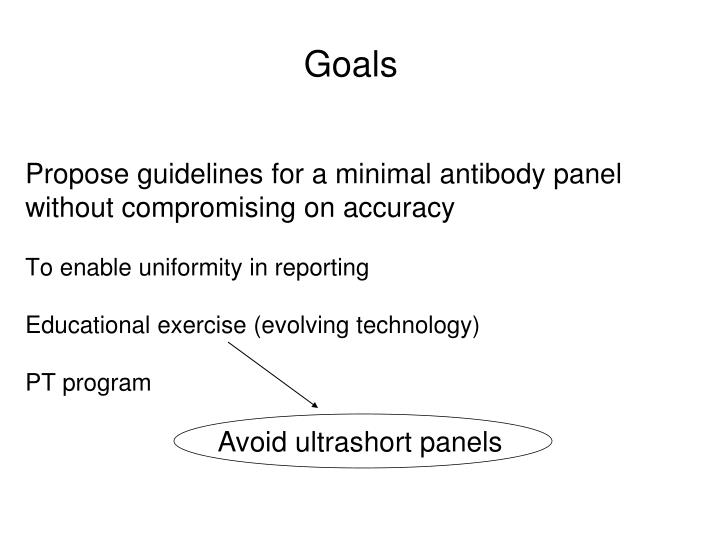 Propose guidelines for a minimal antibody panel without compromising on accuracy