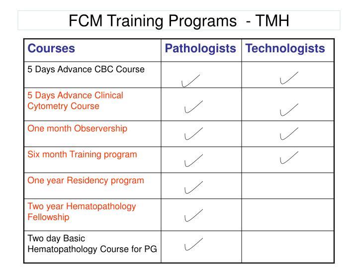 FCM Training Programs  - TMH