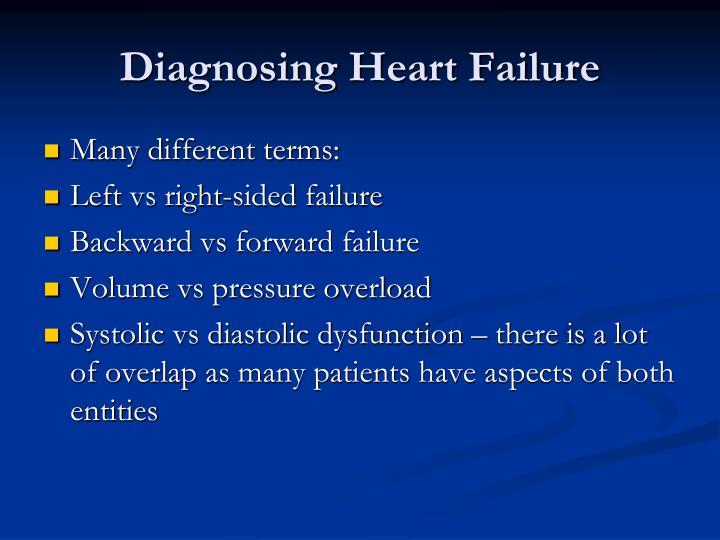 Diagnosing Heart Failure