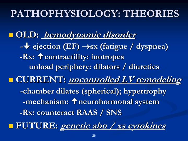 PATHOPHYSIOLOGY: THEORIES