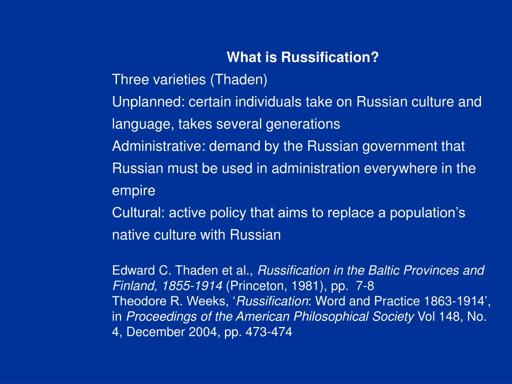What is Russification?