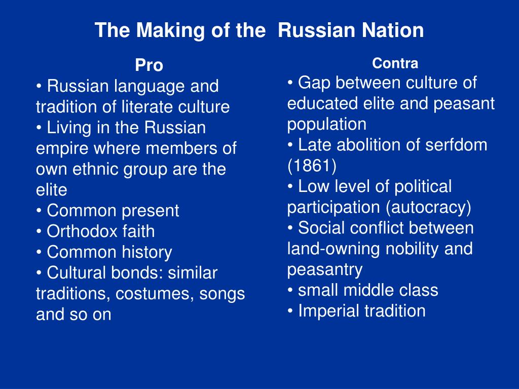 The Making of the  Russian Nation
