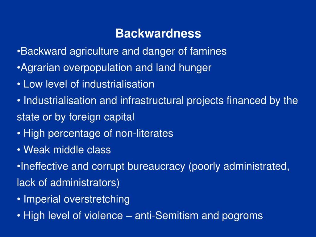 Backwardness
