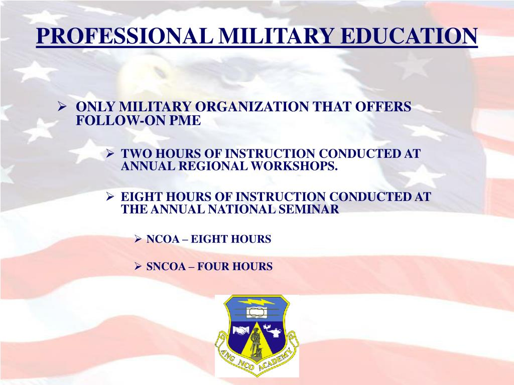 PROFESSIONAL MILITARY EDUCATION
