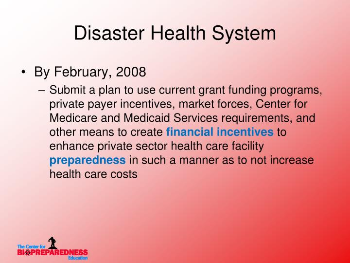 Disaster Health System