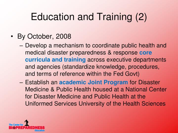 Education and Training (2)