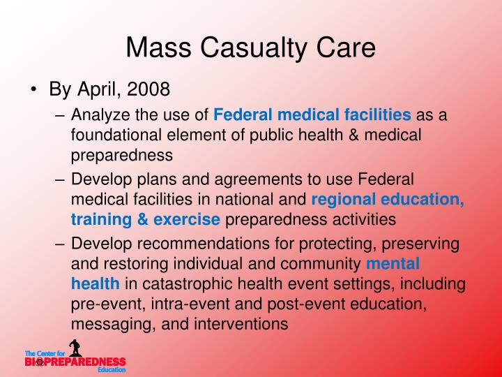 Mass Casualty Care
