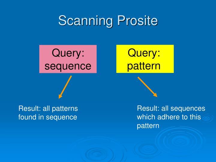 Scanning Prosite