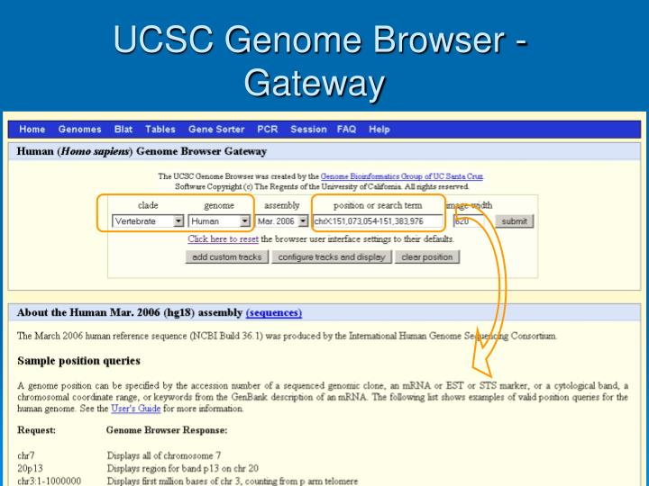 UCSC Genome Browser - Gateway