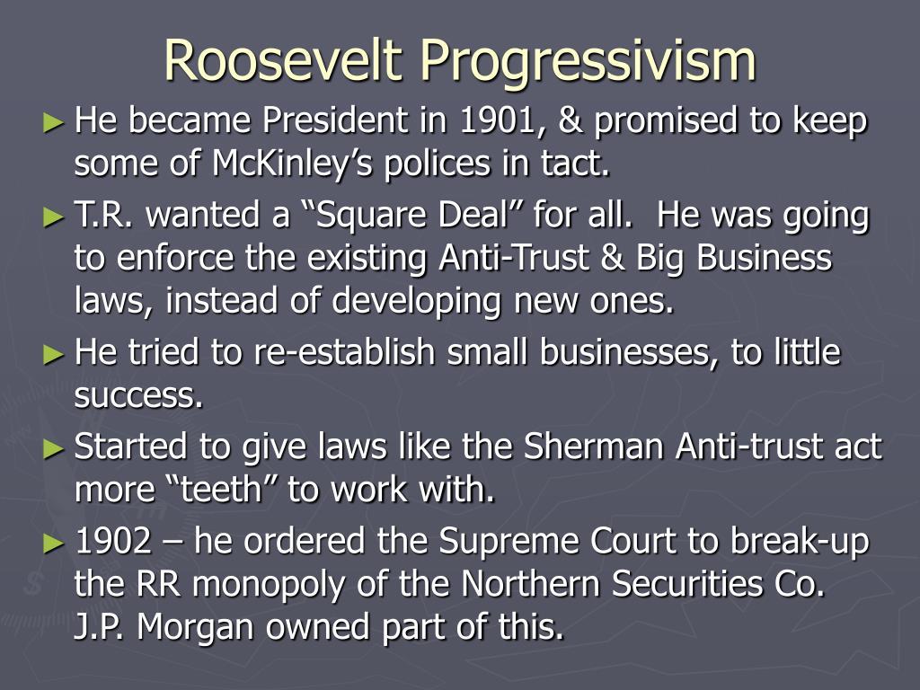 Roosevelt Progressivism