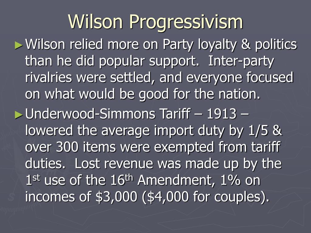 Wilson Progressivism