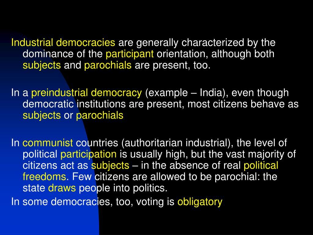 Industrial democracies