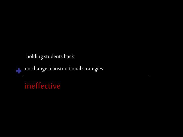 holding students back
