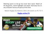 watch rugby six nations 2011 all match on pc tv rugby online tv