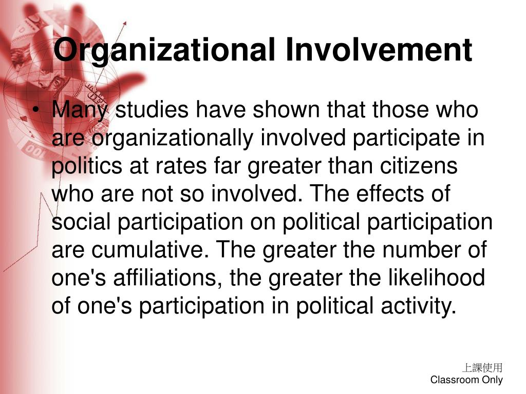 Organizational Involvement