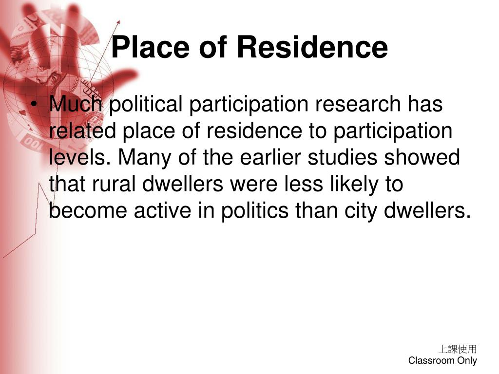 Place of Residence