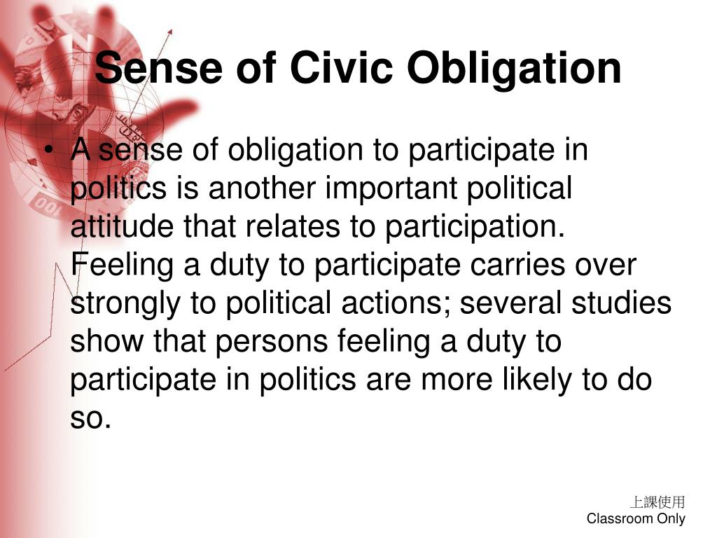 Sense of Civic Obligation