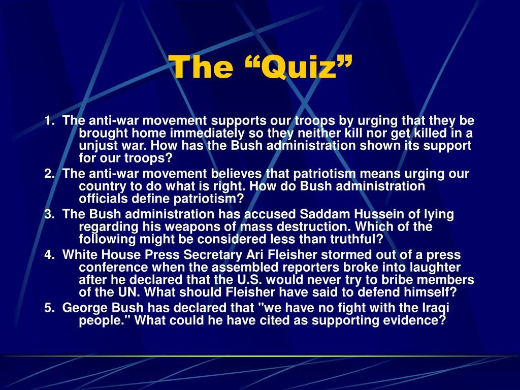 "The ""Quiz"""