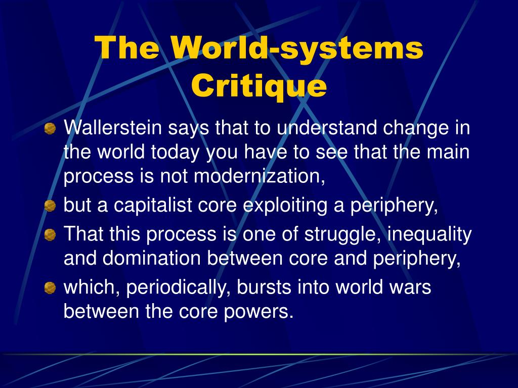 The World-systems Critique