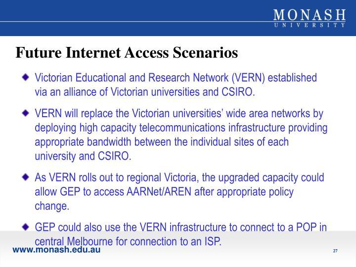 Future Internet Access Scenarios