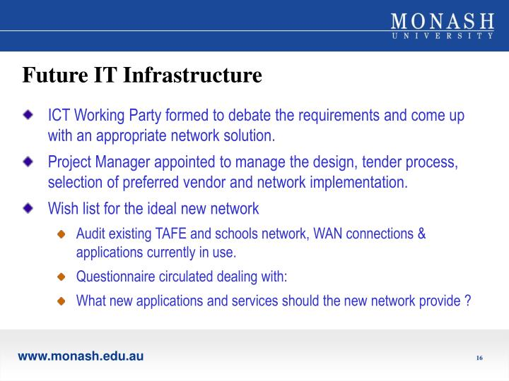 Future IT Infrastructure