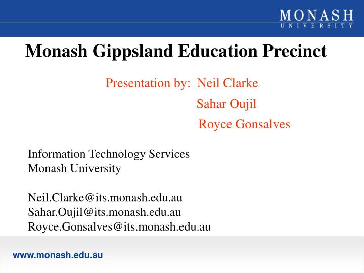 Monash Gippsland Education Precinct