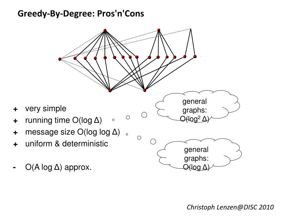 Greedy-By-Degree: Pros'n'Cons