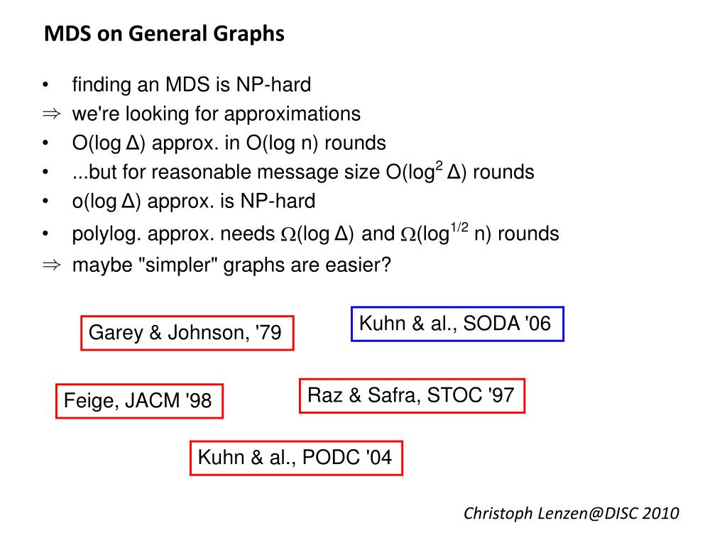 MDS on General Graphs