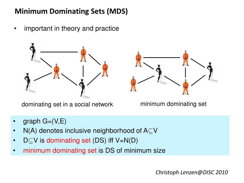 Minimum Dominating Sets (MDS)