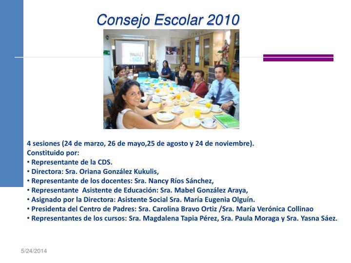 Consejo Escolar 2010