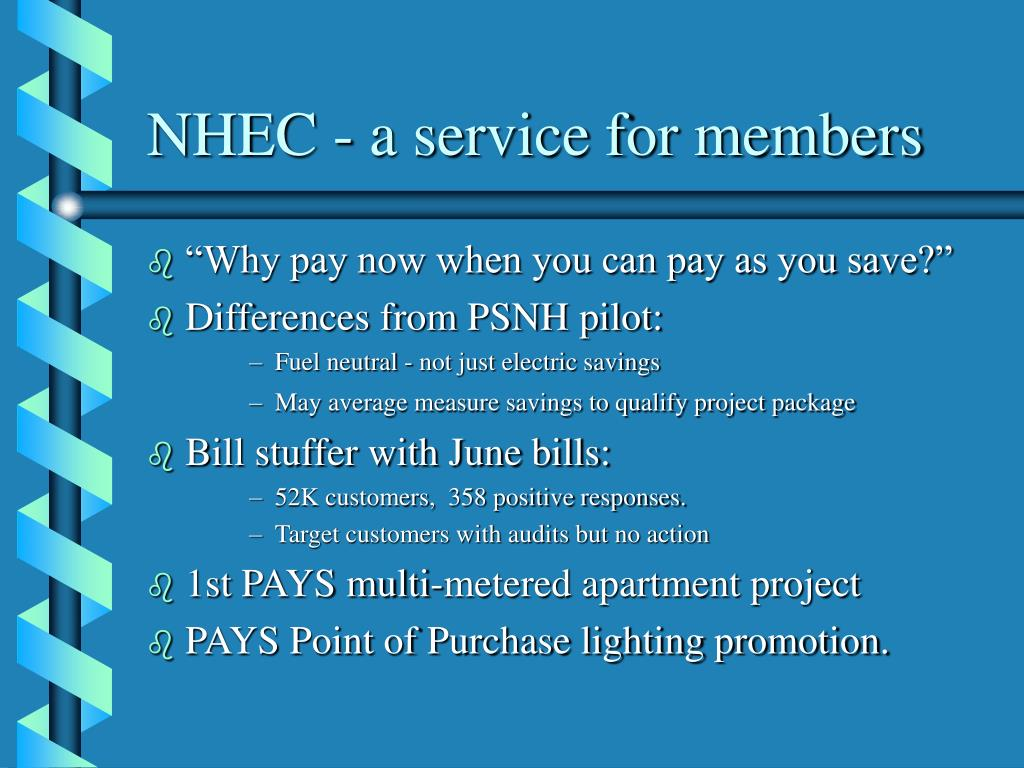 NHEC - a service for members