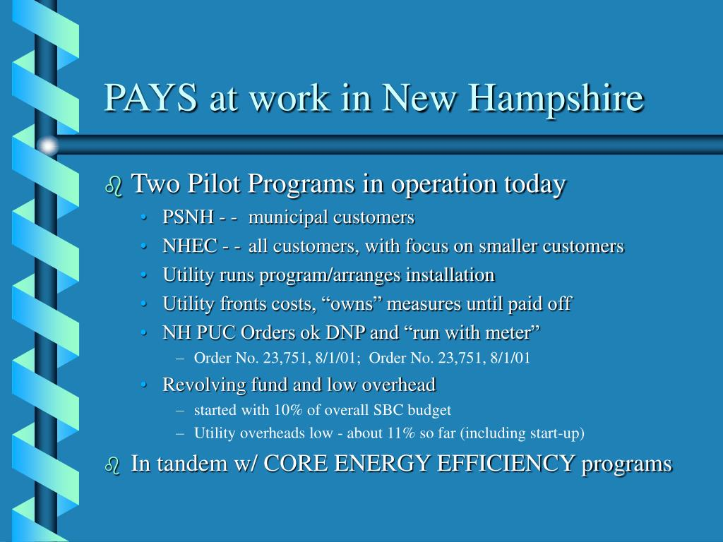 PAYS at work in New Hampshire