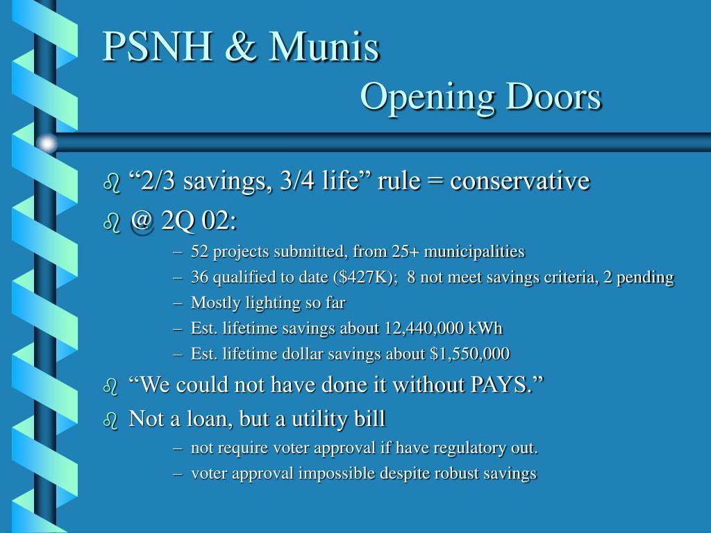 PSNH & Munis