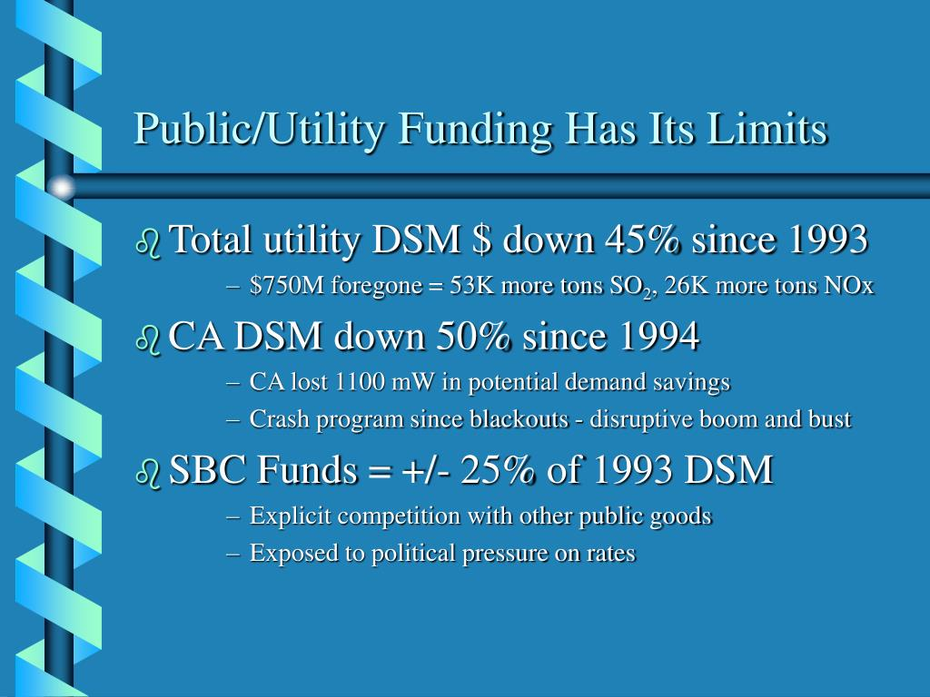 Public/Utility Funding Has Its Limits