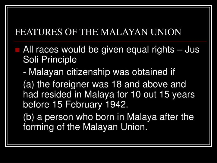 Malayan Union