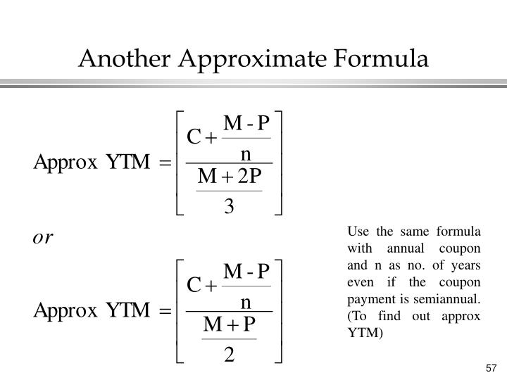 Another Approximate Formula