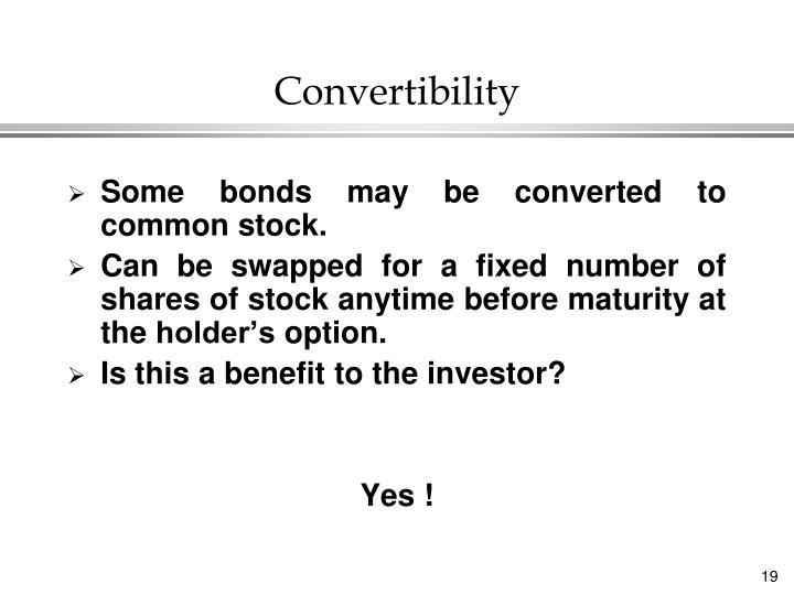 Convertibility