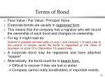 terms of bond