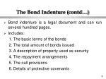 the bond indenture contd